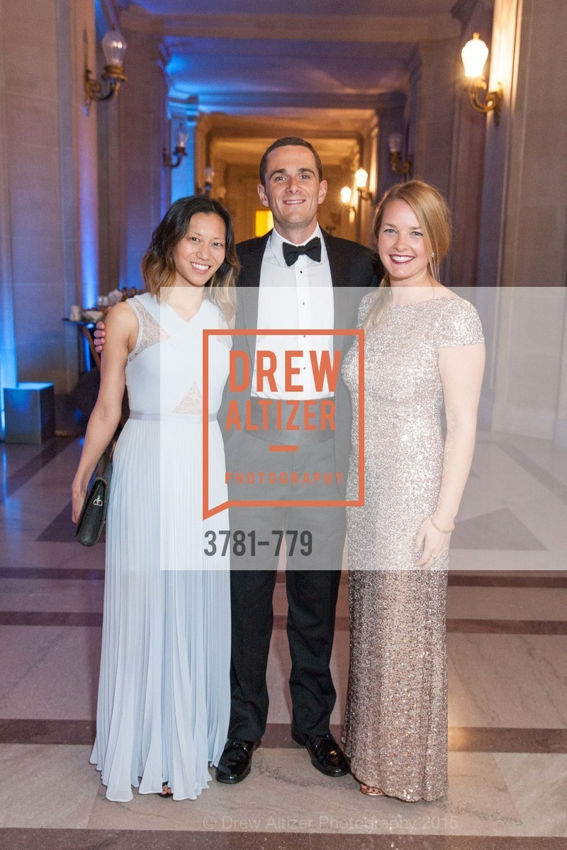 Kat Chang, Will Heidrich, Heather Smith, San Francisco Ballet 2015 Opening Night Gala, San Francisco City Hall. 1 Dr Carlton B Goodlett Pl, January 22nd, 2015,Drew Altizer, Drew Altizer Photography, full-service agency, private events, San Francisco photographer, photographer california