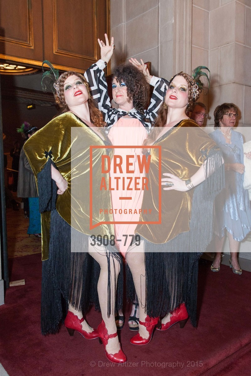 Melissa Castaneda, Hailey Gaiser, Elizabeth Castaneda, San Francisco Ballet 2015 Opening Night Gala, San Francisco City Hall. 1 Dr Carlton B Goodlett Pl, January 22nd, 2015