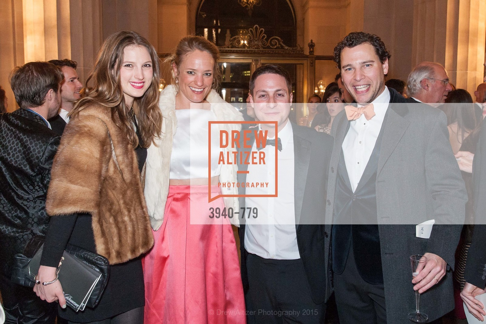 Gwennie Wittlinger, Isabelle DeClercq, Lee Wittlinger, Wouter Van Lier, San Francisco Ballet 2015 Opening Night Gala, San Francisco City Hall. 1 Dr Carlton B Goodlett Pl, January 22nd, 2015,Drew Altizer, Drew Altizer Photography, full-service agency, private events, San Francisco photographer, photographer california