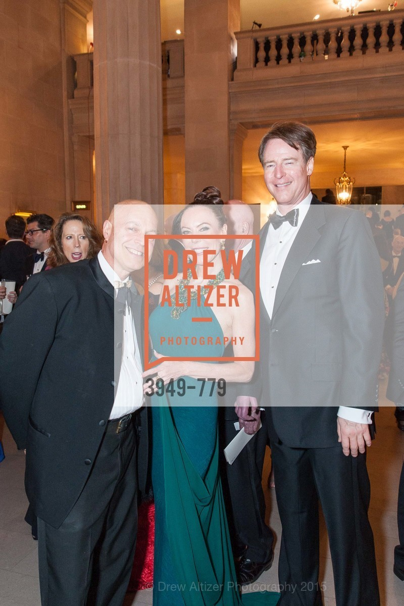 Freddy Clarke, Margaret Mitchell, David Spencer, San Francisco Ballet 2015 Opening Night Gala, San Francisco City Hall. 1 Dr Carlton B Goodlett Pl, January 22nd, 2015,Drew Altizer, Drew Altizer Photography, full-service agency, private events, San Francisco photographer, photographer california