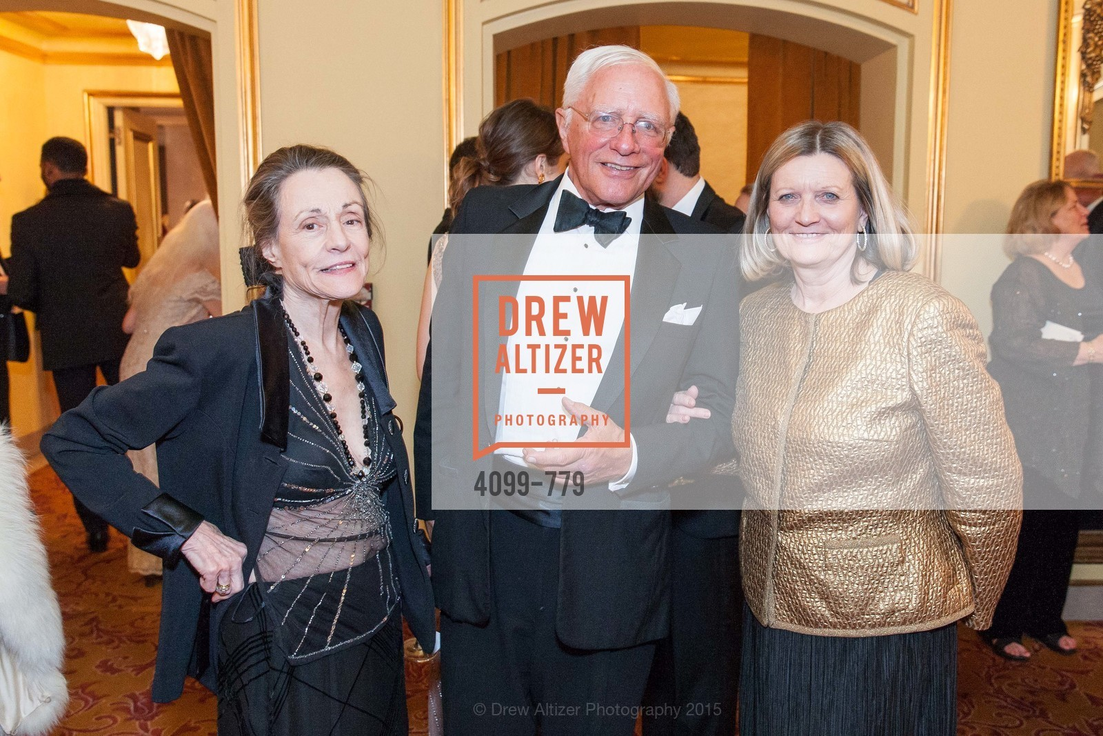 Doris Tumey, John Newmeyer, Donna Crowder, San Francisco Ballet 2015 Opening Night Gala, San Francisco City Hall. 1 Dr Carlton B Goodlett Pl, January 22nd, 2015,Drew Altizer, Drew Altizer Photography, full-service agency, private events, San Francisco photographer, photographer california