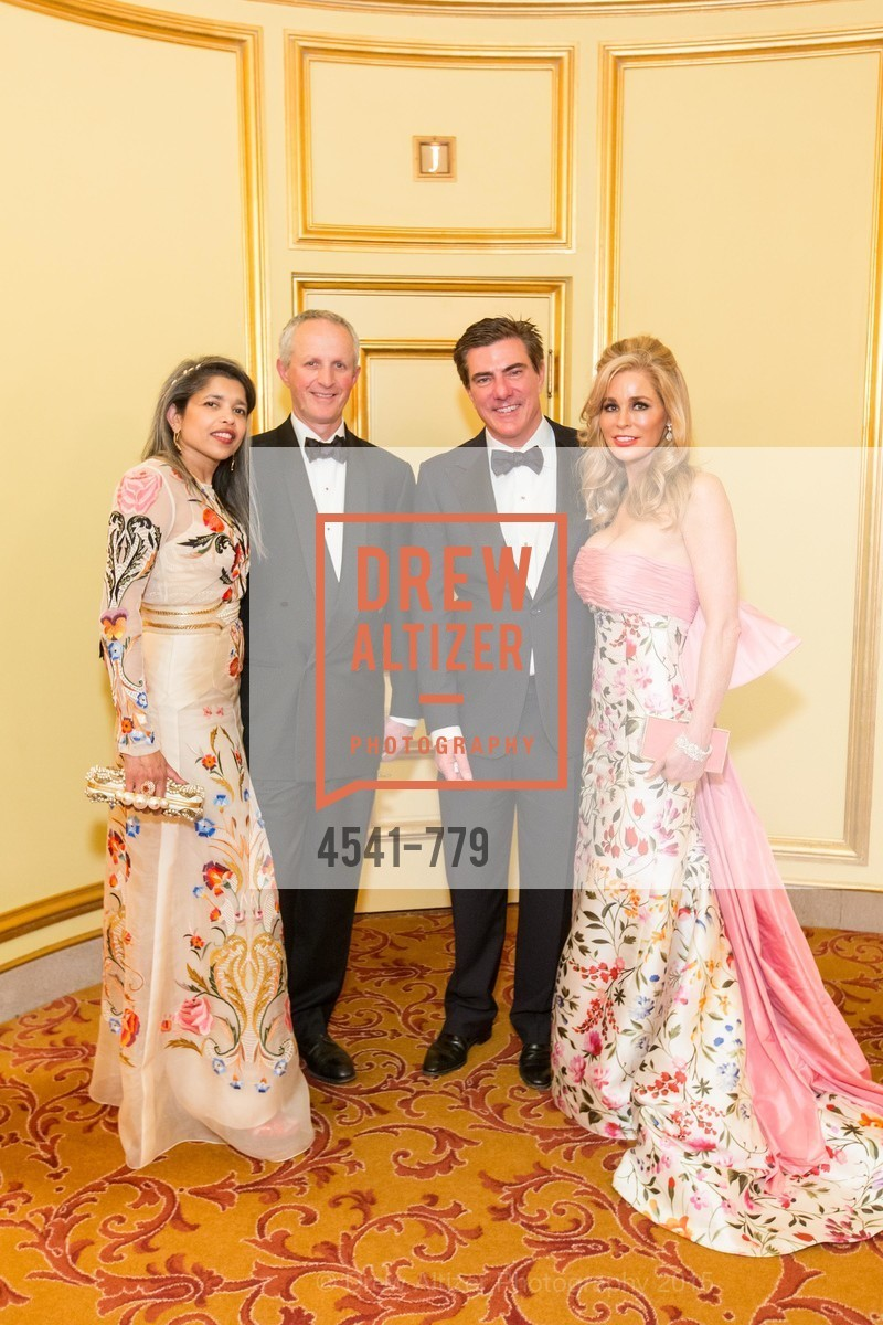 Deepa Pakianathan, Phil Pemberton, Bandel Carano, Paula Carano, San Francisco Ballet 2015 Opening Night Gala, San Francisco City Hall. 1 Dr Carlton B Goodlett Pl, January 22nd, 2015,Drew Altizer, Drew Altizer Photography, full-service agency, private events, San Francisco photographer, photographer california