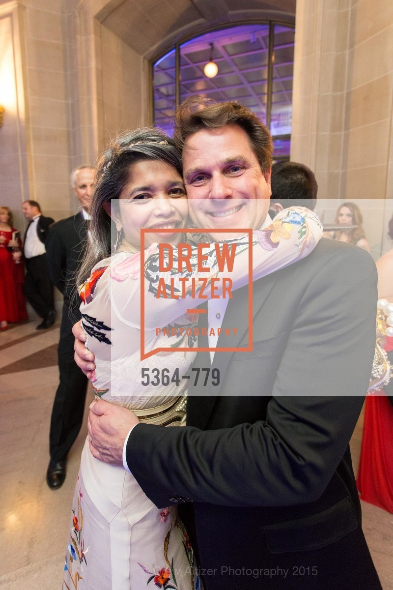 Deepa Pakianathan, Gregory Malin, San Francisco Ballet 2015 Opening Night Gala, San Francisco City Hall. 1 Dr Carlton B Goodlett Pl, January 22nd, 2015,Drew Altizer, Drew Altizer Photography, full-service agency, private events, San Francisco photographer, photographer california