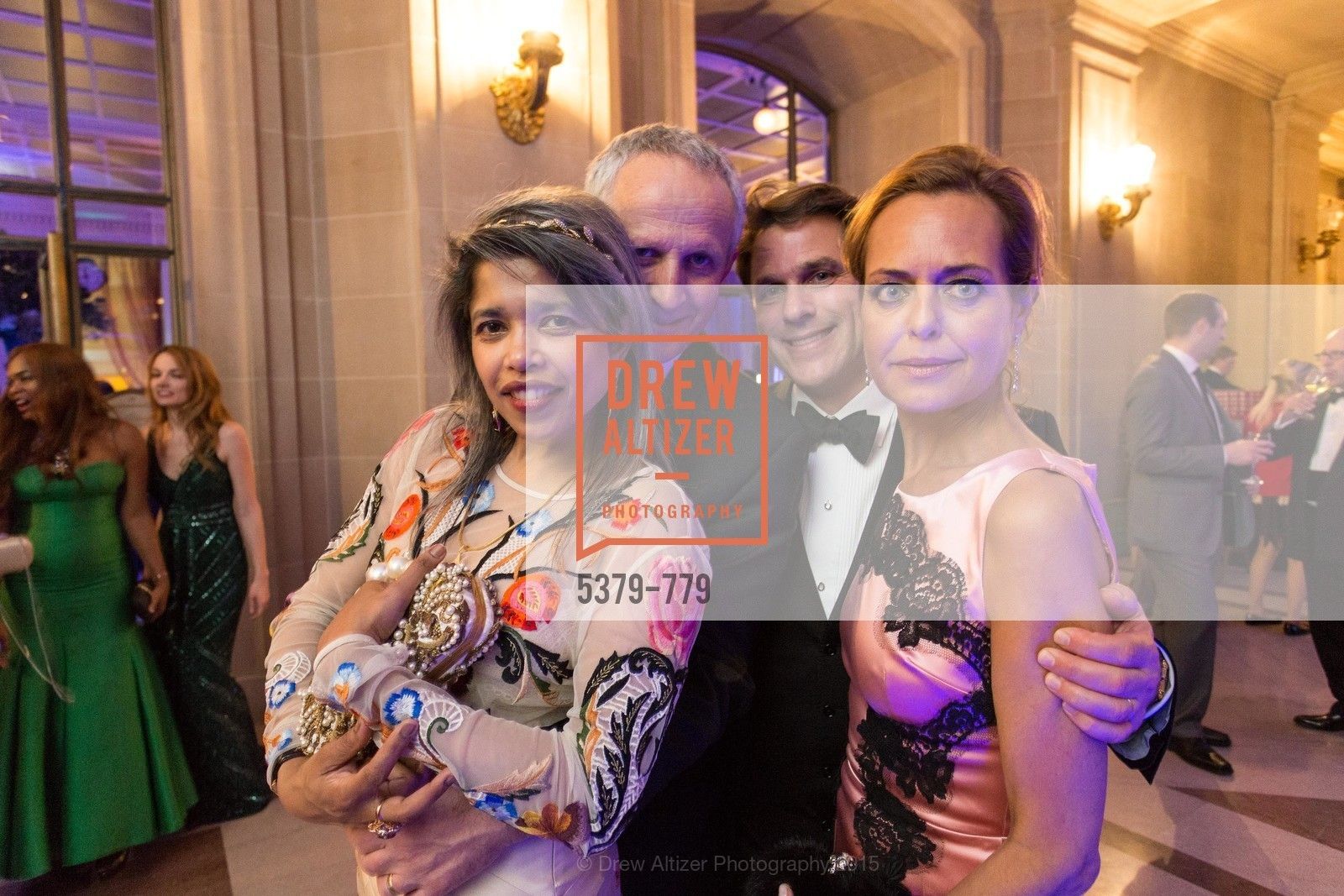 Deepa Pakianathan, Phil Pemberton, Gregory Malin, Charlot Malin, San Francisco Ballet 2015 Opening Night Gala, San Francisco City Hall. 1 Dr Carlton B Goodlett Pl, January 22nd, 2015,Drew Altizer, Drew Altizer Photography, full-service agency, private events, San Francisco photographer, photographer california
