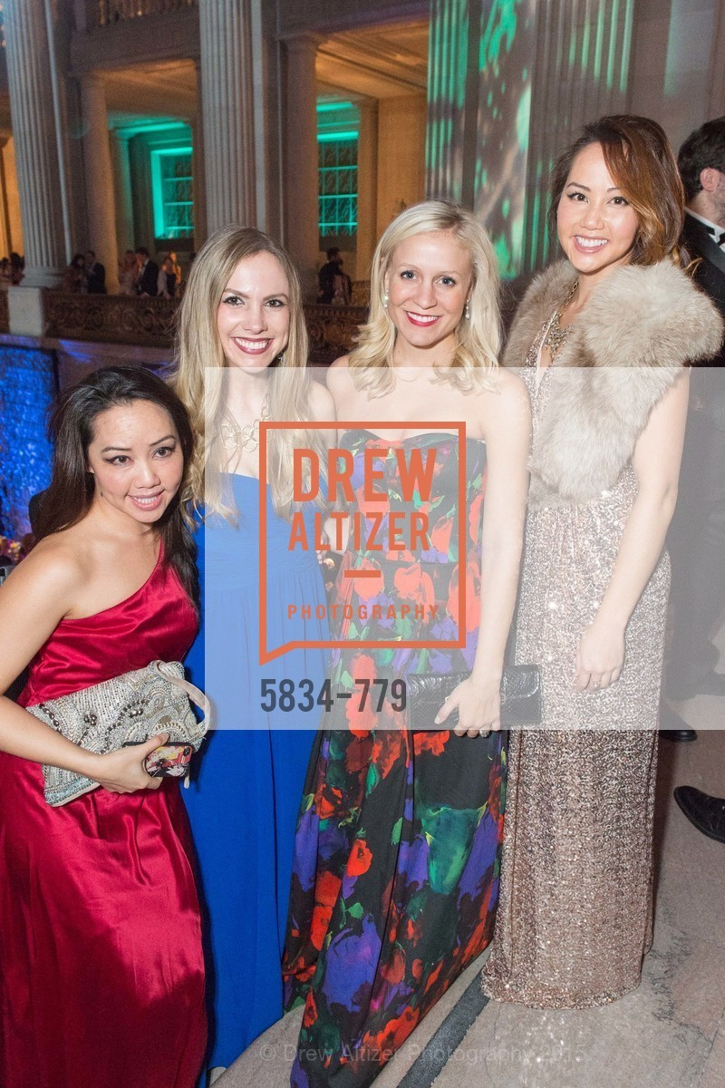 Jessica Leung, Michelle Bertino, Emily Millman, Emily Leung, San Francisco Ballet 2015 Opening Night Gala, San Francisco City Hall. 1 Dr Carlton B Goodlett Pl, January 22nd, 2015,Drew Altizer, Drew Altizer Photography, full-service agency, private events, San Francisco photographer, photographer california