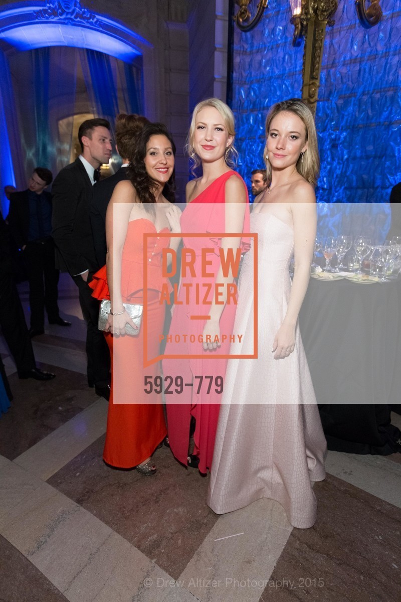Erica Stakutis, Madeline Houk, Madison McDonough, San Francisco Ballet 2015 Opening Night Gala, San Francisco City Hall. 1 Dr Carlton B Goodlett Pl, January 22nd, 2015,Drew Altizer, Drew Altizer Photography, full-service agency, private events, San Francisco photographer, photographer california