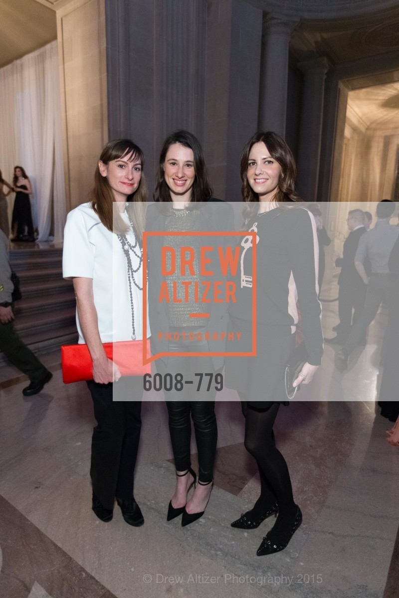 Stevie Howell, Katherine Cambouris, Natalie Dobranski, San Francisco Ballet 2015 Opening Night Gala, San Francisco City Hall. 1 Dr Carlton B Goodlett Pl, January 22nd, 2015,Drew Altizer, Drew Altizer Photography, full-service agency, private events, San Francisco photographer, photographer california