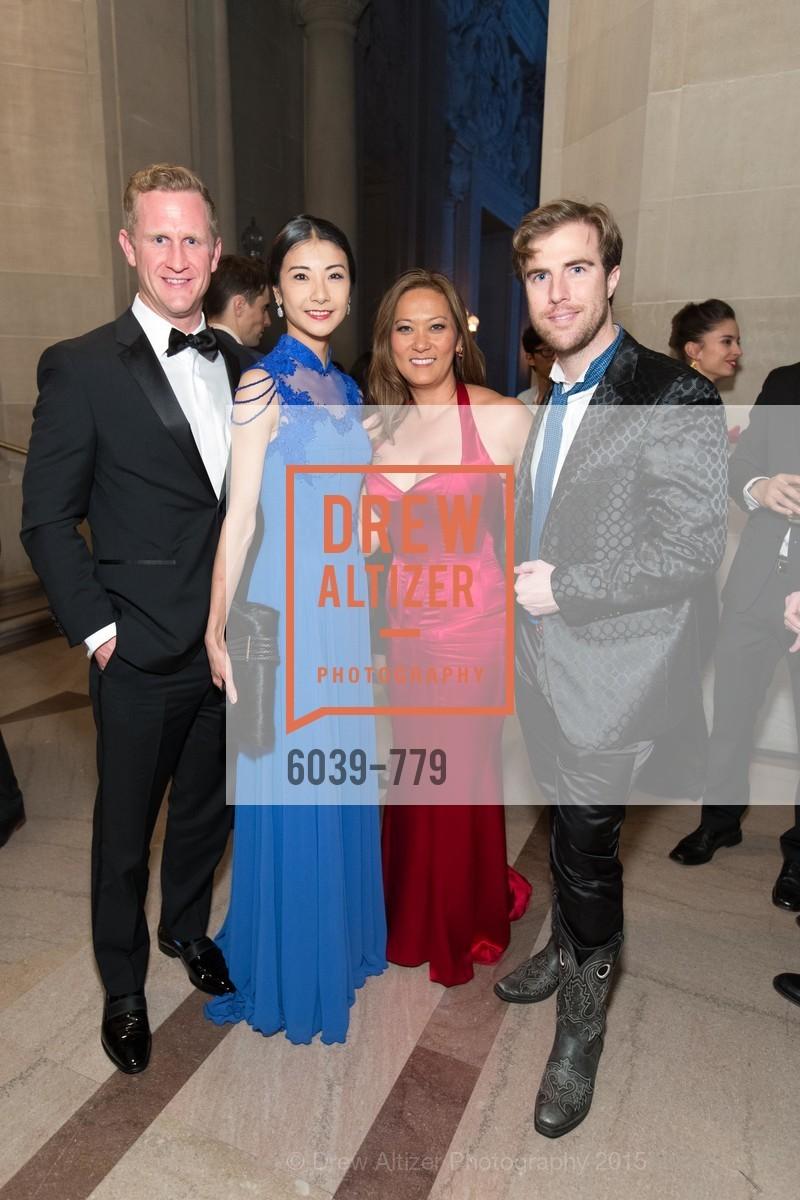 Yuan Yuan Tan, Elisabeth Fullerton, Matthew Kimball, San Francisco Ballet 2015 Opening Night Gala, San Francisco City Hall. 1 Dr Carlton B Goodlett Pl, January 22nd, 2015