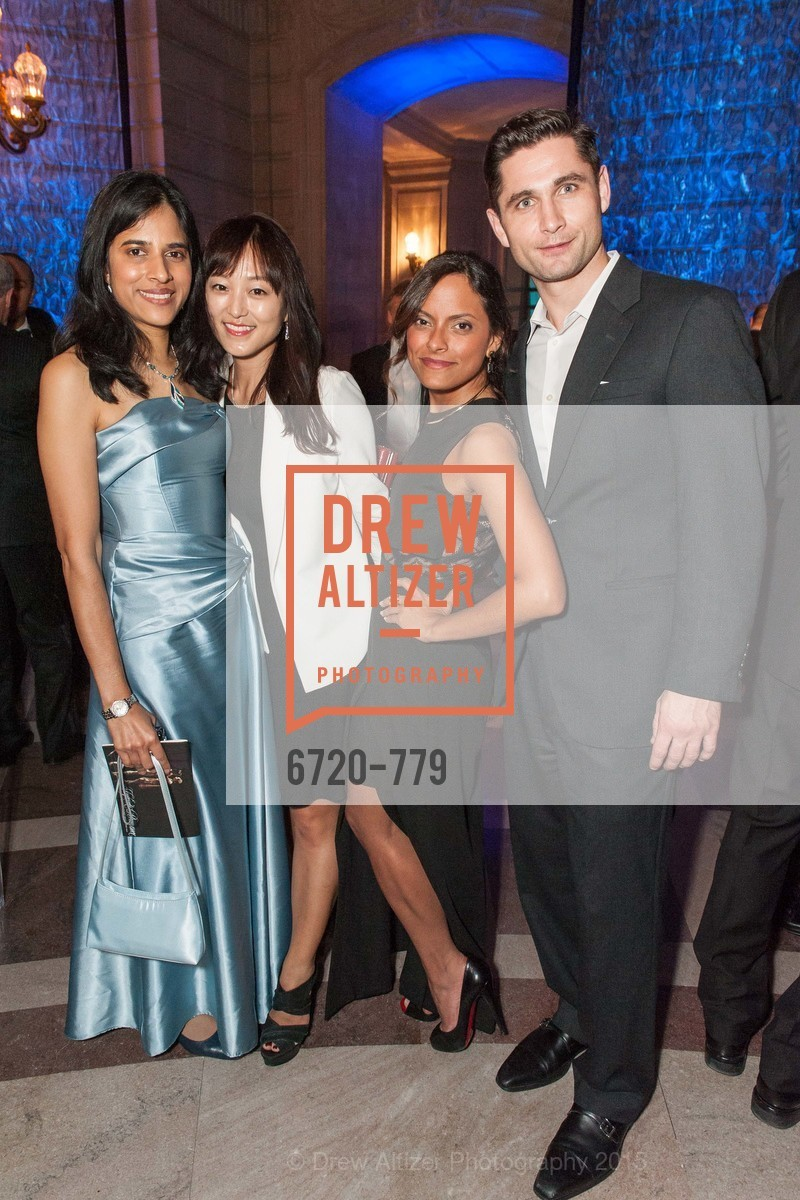 Nayana Ghanziwala, Mina Lee, Beatriz Zeno, Mike Borozzin, San Francisco Ballet 2015 Opening Night Gala, San Francisco City Hall. 1 Dr Carlton B Goodlett Pl, January 22nd, 2015,Drew Altizer, Drew Altizer Photography, full-service agency, private events, San Francisco photographer, photographer california