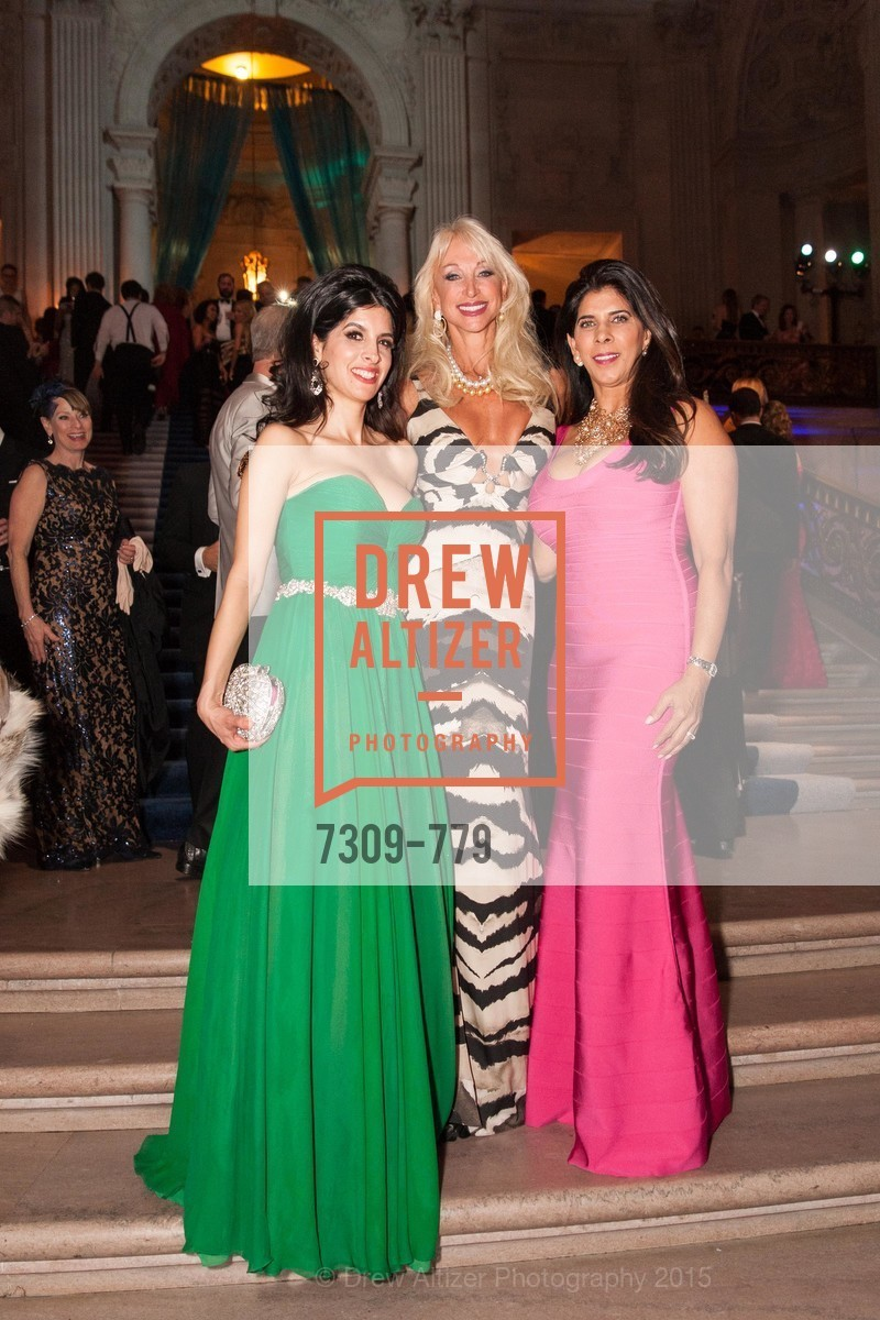 Veronica Rivas-Tramontozzi, Daru Kawalkowski, Sujata Pherwani, San Francisco Ballet 2015 Opening Night Gala, San Francisco City Hall. 1 Dr Carlton B Goodlett Pl, January 22nd, 2015,Drew Altizer, Drew Altizer Photography, full-service agency, private events, San Francisco photographer, photographer california