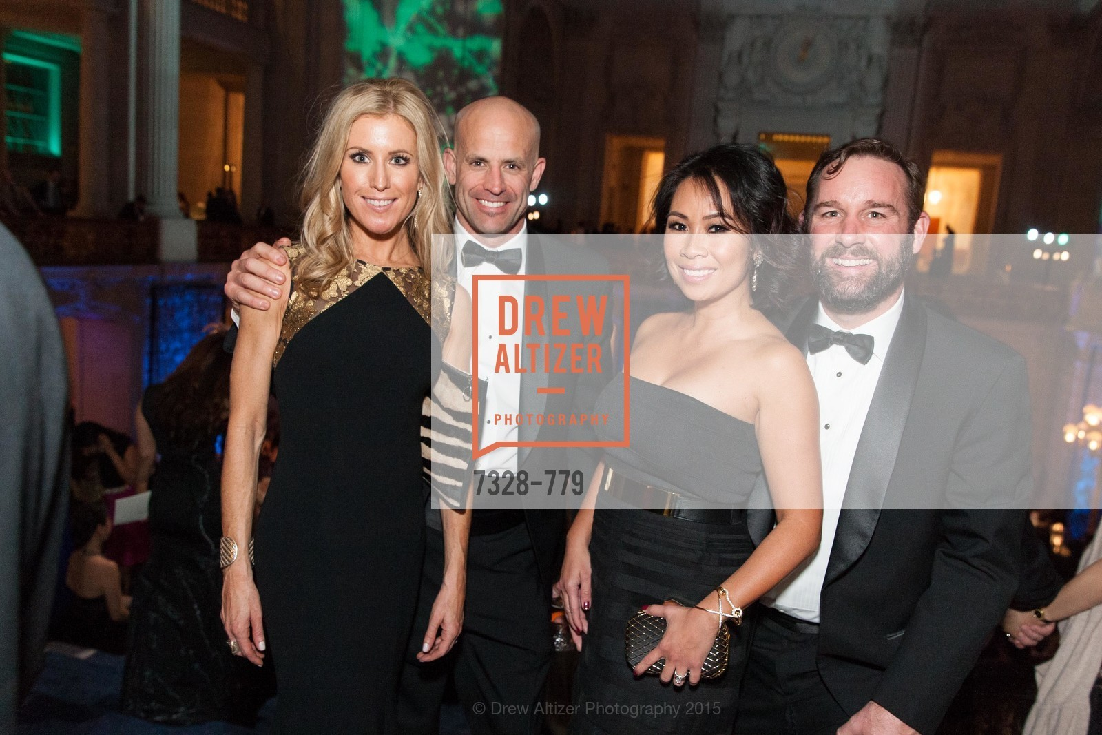 Erica Cisneros, Stefan Cisneros, Nielma Hock, Kirby Hock, San Francisco Ballet 2015 Opening Night Gala, San Francisco City Hall. 1 Dr Carlton B Goodlett Pl, January 22nd, 2015,Drew Altizer, Drew Altizer Photography, full-service agency, private events, San Francisco photographer, photographer california