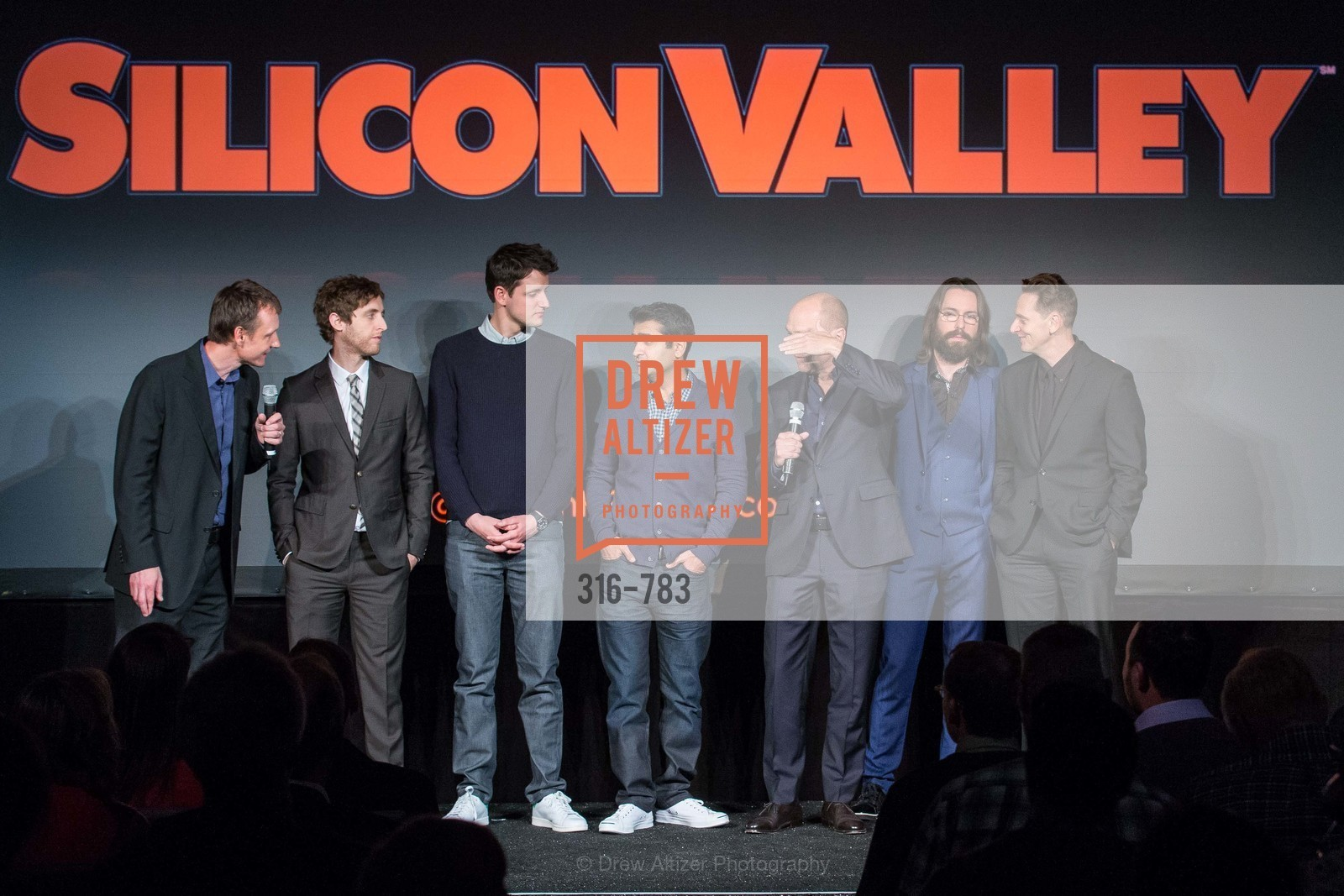 Alec Berg, Thomas Middleditch, Zach Woods, Kumail Nanjiani, Mike Judge, Martin Starr, Matt Ross, HBO'S SILICON VALLEY San Francisco Screening, US, April 9th, 2015,Drew Altizer, Drew Altizer Photography, full-service agency, private events, San Francisco photographer, photographer california