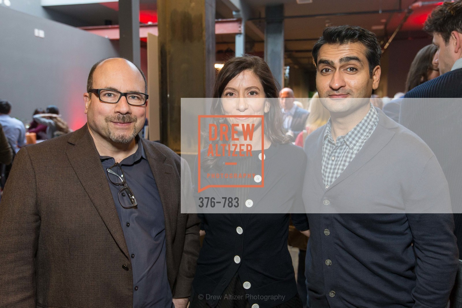 Craig Newmark, Eileen Newmark, Kumail Nanjiani, HBO'S SILICON VALLEY San Francisco Screening, US, April 9th, 2015,Drew Altizer, Drew Altizer Photography, full-service agency, private events, San Francisco photographer, photographer california