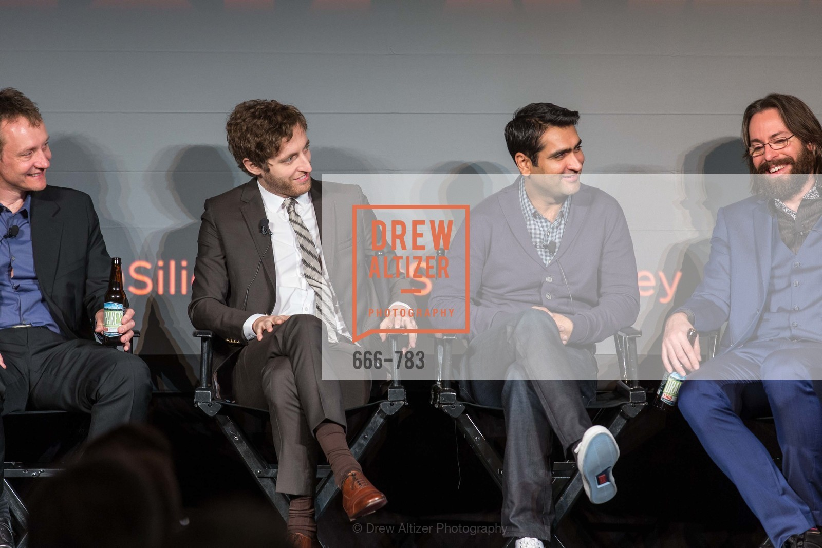 Alec Berg, Thomas Middleditch, Kumail Nanjiani, Martin Starr, HBO'S SILICON VALLEY San Francisco Screening, US, April 9th, 2015,Drew Altizer, Drew Altizer Photography, full-service agency, private events, San Francisco photographer, photographer california