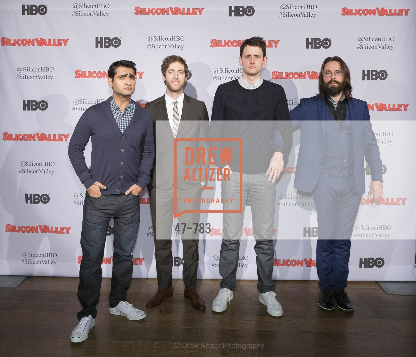 Kumail Nanjiani, Thomas Middleditch, Zach Woods, Martin Starr, HBO'S SILICON VALLEY San Francisco Screening, US, April 8th, 2015,Drew Altizer, Drew Altizer Photography, full-service agency, private events, San Francisco photographer, photographer california