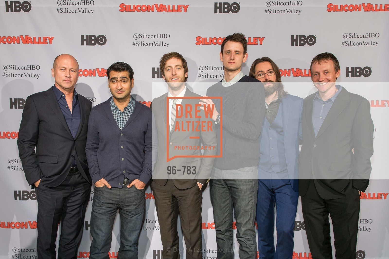 Mike Judge, Kumail Nanjiani, Thomas Middleditch, Zach Woods, Martin Starr, Alec Berg, HBO'S SILICON VALLEY San Francisco Screening, US, April 8th, 2015,Drew Altizer, Drew Altizer Photography, full-service agency, private events, San Francisco photographer, photographer california