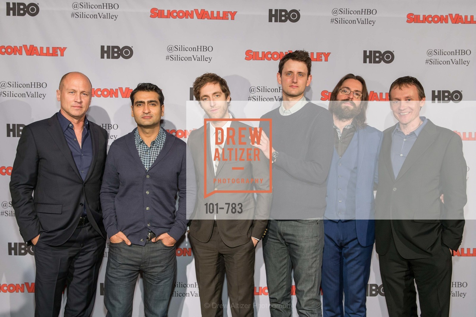 Mike Judge, Kumail Nanjiani, Thomas Middleditch, Zach Woods, Martin Starr, Alec Berg, HBO'S SILICON VALLEY San Francisco Screening, US, April 9th, 2015,Drew Altizer, Drew Altizer Photography, full-service agency, private events, San Francisco photographer, photographer california