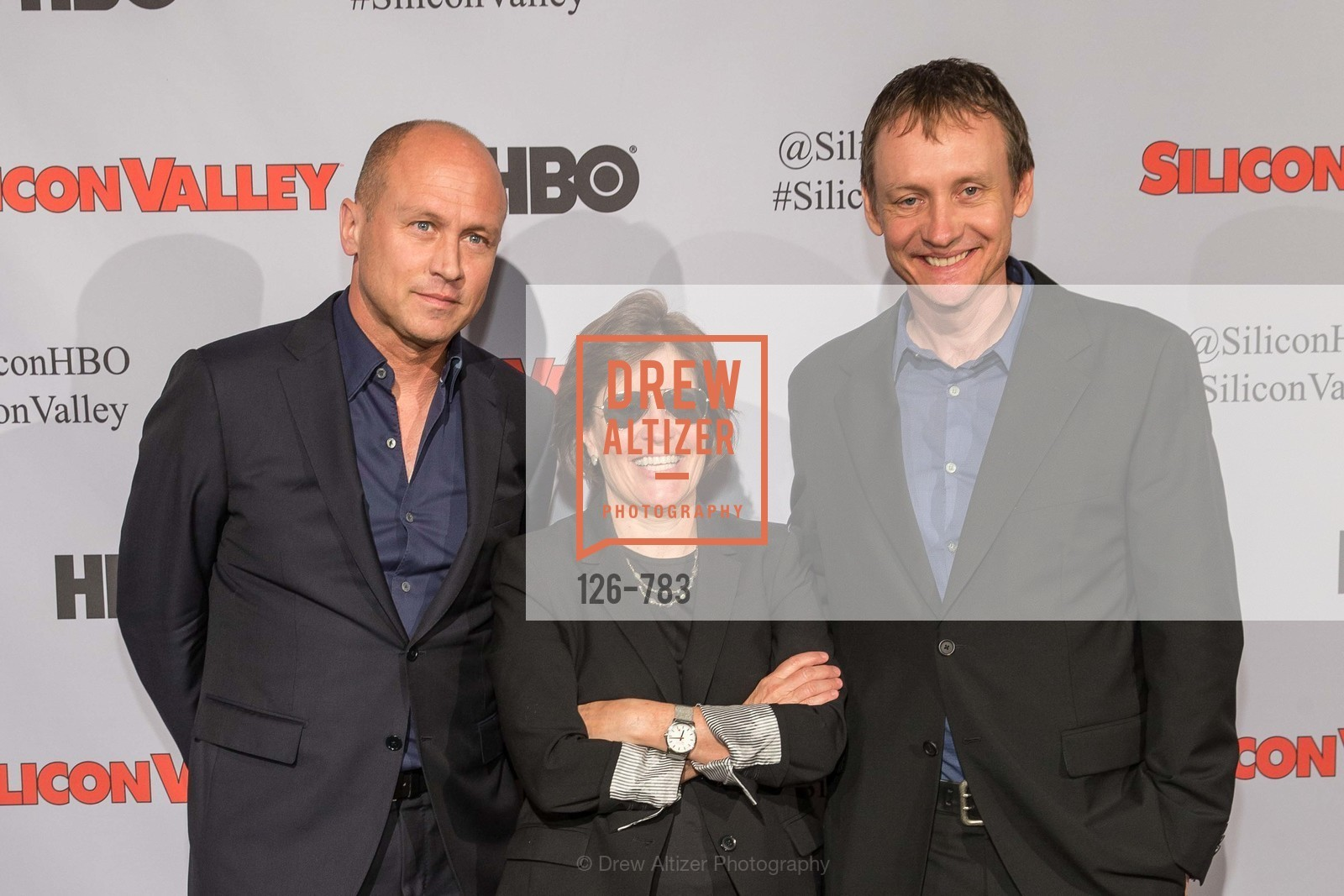 Mike Judge, Kara Swisher, Alec Berg, HBO'S SILICON VALLEY San Francisco Screening, US, April 9th, 2015,Drew Altizer, Drew Altizer Photography, full-service agency, private events, San Francisco photographer, photographer california