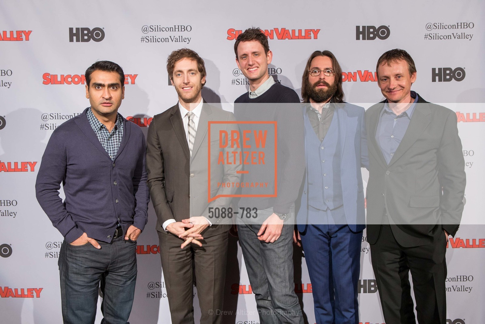 Kumail Nanjiani, Thomas Middleditch, Zach Woods, Martin Starr, Alec Berg, HBO'S SILICON VALLEY San Francisco Screening, US, April 8th, 2015,Drew Altizer, Drew Altizer Photography, full-service agency, private events, San Francisco photographer, photographer california