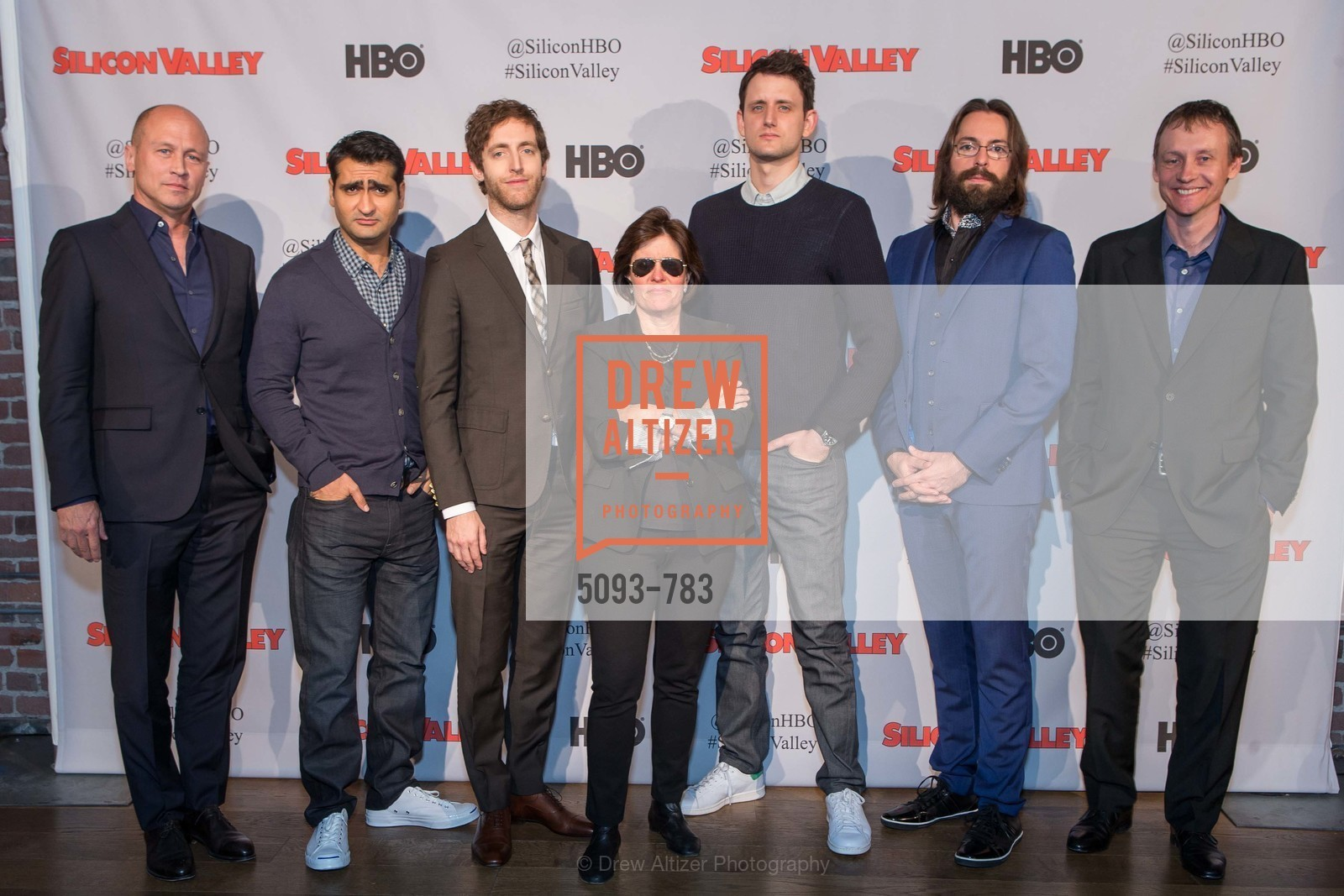 Mike Judge, Kumail Nanjiani, Thomas Middleditch, Kara Swisher, Zach Woods, Martin Starr, Alec Berg, HBO'S SILICON VALLEY San Francisco Screening, US, April 8th, 2015,Drew Altizer, Drew Altizer Photography, full-service agency, private events, San Francisco photographer, photographer california