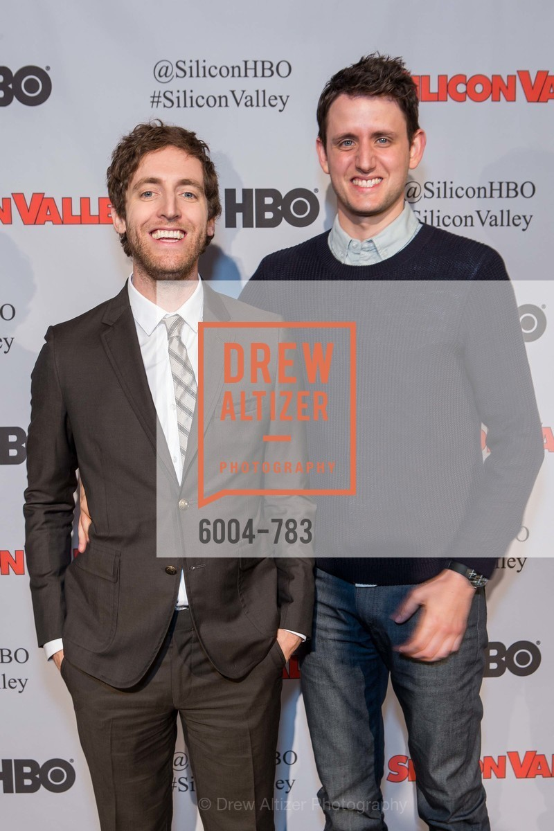 Thomas Middleditch, Zach Woods, HBO'S SILICON VALLEY San Francisco Screening, US, April 9th, 2015