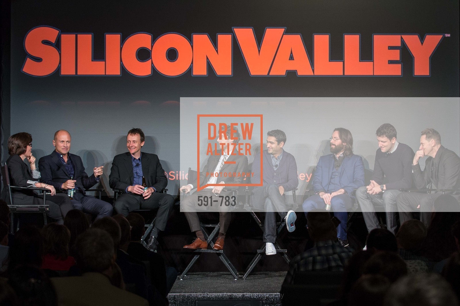 Kara Swisher, Mike Judge, Alec Berg, Thomas Middleditch, Kumail Nanjiani, Martin Starr, Zach Woods, Matt Ross, HBO'S SILICON VALLEY San Francisco Screening, US, April 9th, 2015,Drew Altizer, Drew Altizer Photography, full-service agency, private events, San Francisco photographer, photographer california