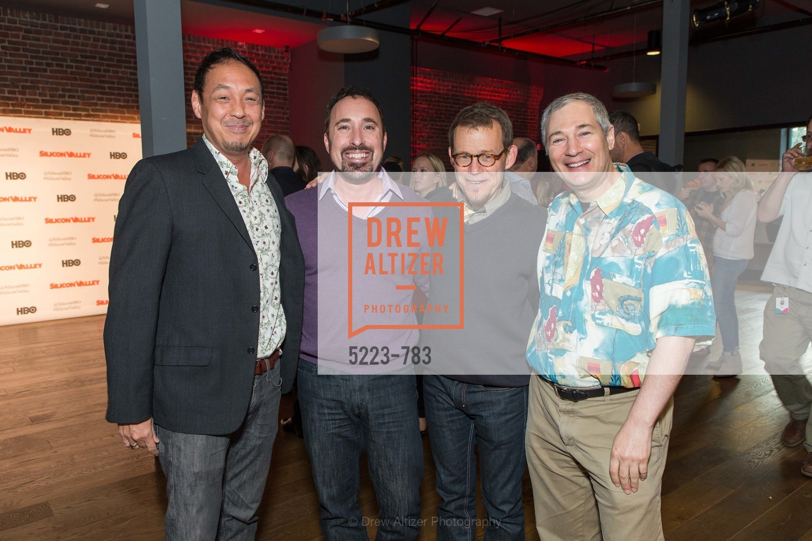 Cory Tong, Eric Bach, Ted Burner, David Stein, HBO'S SILICON VALLEY San Francisco Screening, US, April 9th, 2015,Drew Altizer, Drew Altizer Photography, full-service agency, private events, San Francisco photographer, photographer california