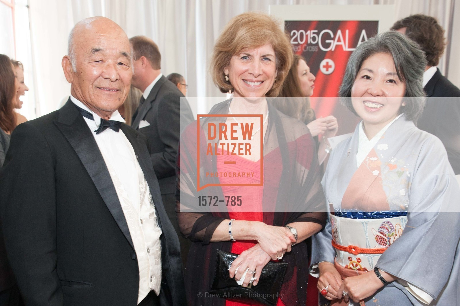 Hiro Ogawa, Gail McGovern, Kazue Watanabe, 2015 RED CROSS Gala, US, April 12th, 2015,Drew Altizer, Drew Altizer Photography, full-service agency, private events, San Francisco photographer, photographer california