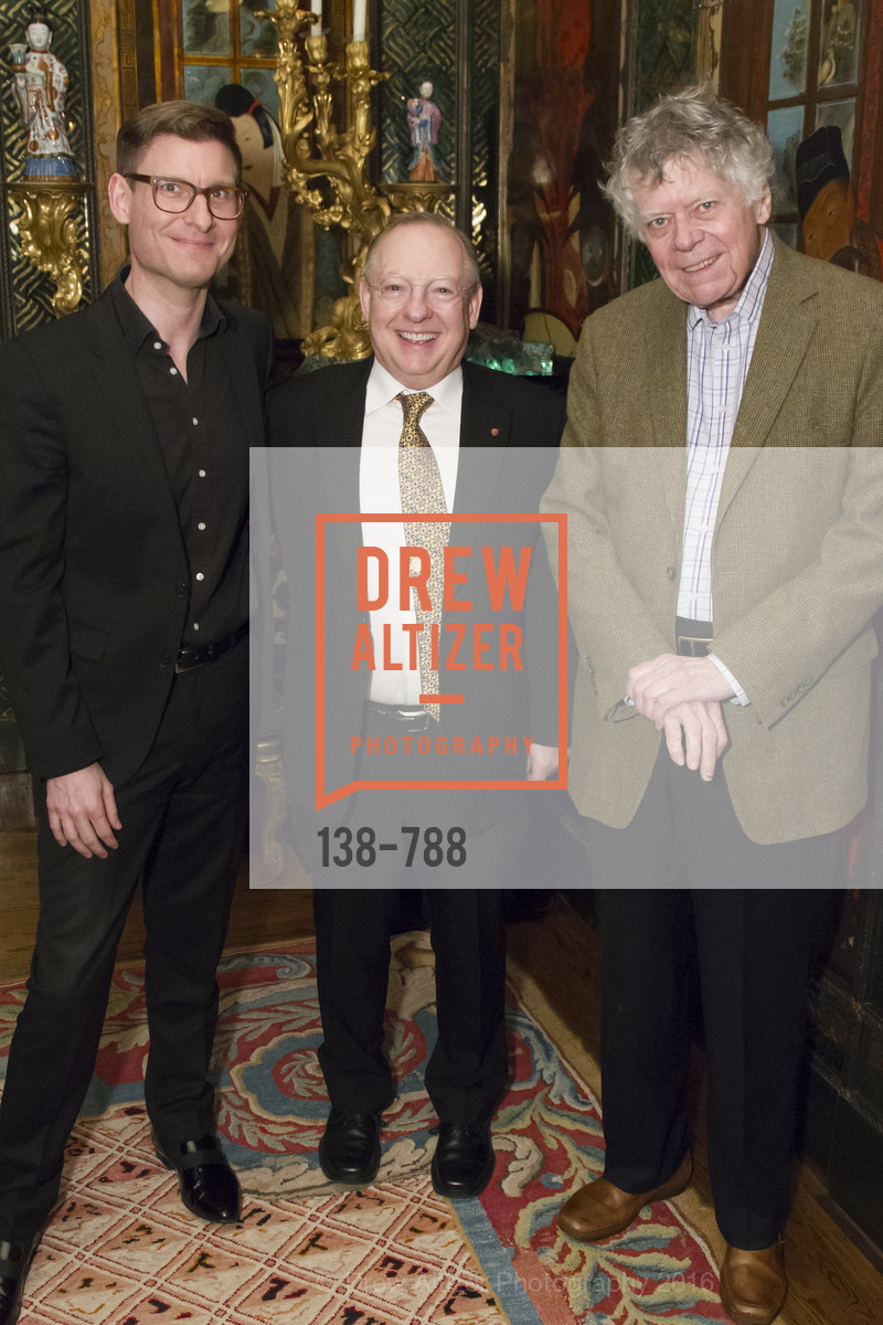 Kristian Bezuidenhout, Nicholas McGegan, Gordon Getty, Reception for the Philharmonia Baroque Orchestra, Private Residence. 2525 Van Ness St, February 2nd, 2016,Drew Altizer, Drew Altizer Photography, full-service event agency, private events, San Francisco photographer, photographer California