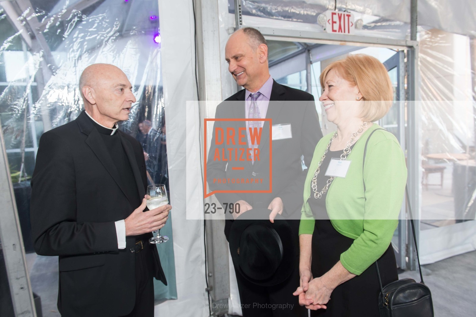 Msgr. James Tarantino, Jim LaRocca, Pat Larocca, Post War and Contemporary Preview at HEDGE GALLERY, US, April 16th, 2015,Drew Altizer, Drew Altizer Photography, full-service agency, private events, San Francisco photographer, photographer california