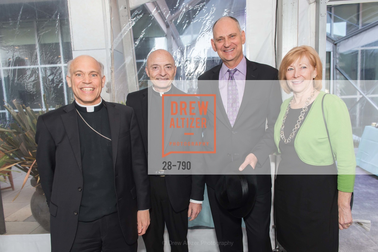 Archbishop Salvatore Cordileone, Msgr. James Tarantino, Jim LaRocca, Pat Larocca, Post War and Contemporary Preview at HEDGE GALLERY, US, April 16th, 2015,Drew Altizer, Drew Altizer Photography, full-service agency, private events, San Francisco photographer, photographer california