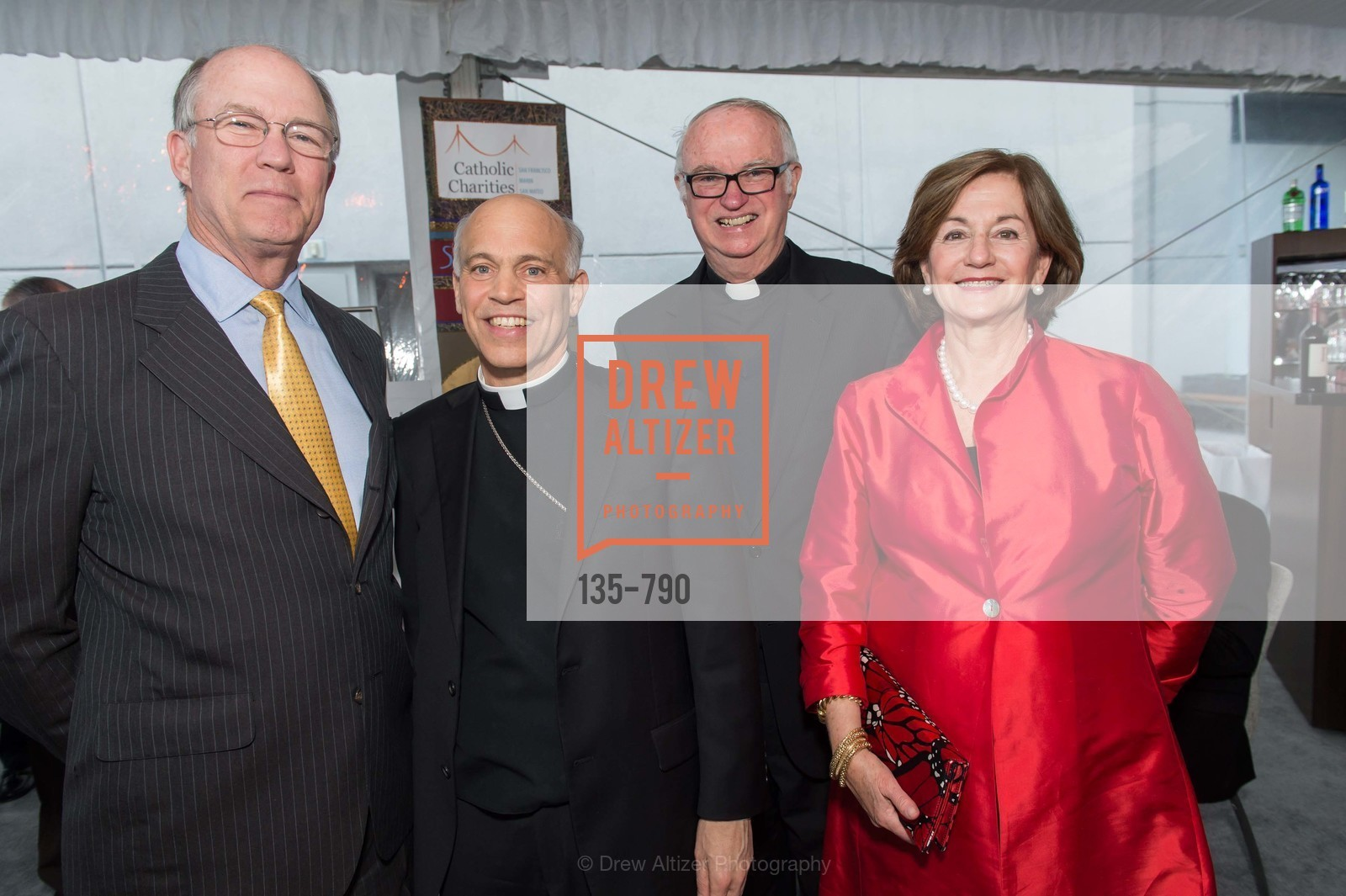 Lee Kenna, Archbishop, Salvatore Cordileone, Father Tony McGuire, Cachi Kenna, Post War and Contemporary Preview at HEDGE GALLERY, US, April 15th, 2015,Drew Altizer, Drew Altizer Photography, full-service agency, private events, San Francisco photographer, photographer california