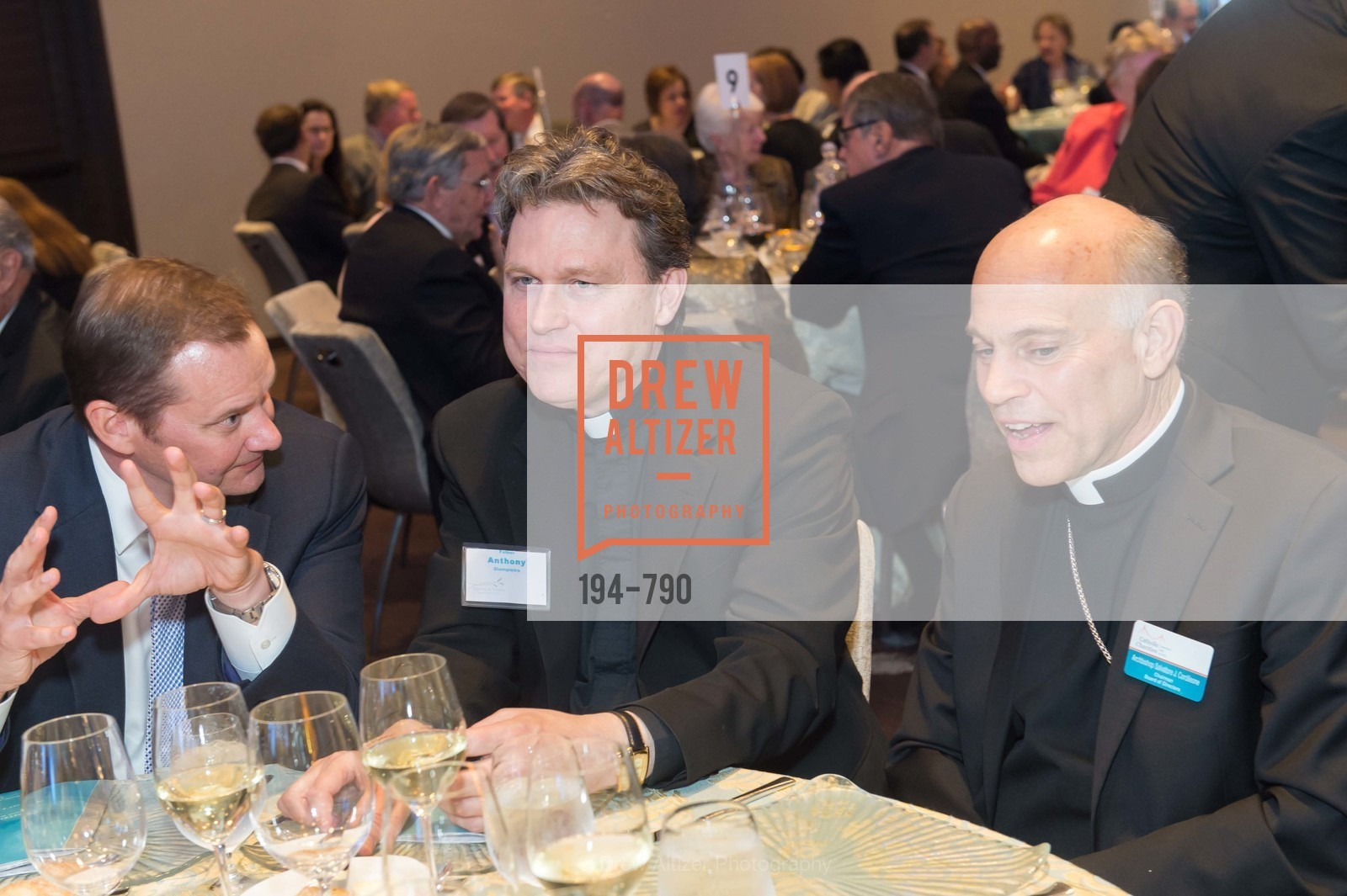 Father Anthony Giampietro, Archbishop Salvatore Cordileone, Post War and Contemporary Preview at HEDGE GALLERY, US, April 16th, 2015,Drew Altizer, Drew Altizer Photography, full-service agency, private events, San Francisco photographer, photographer california