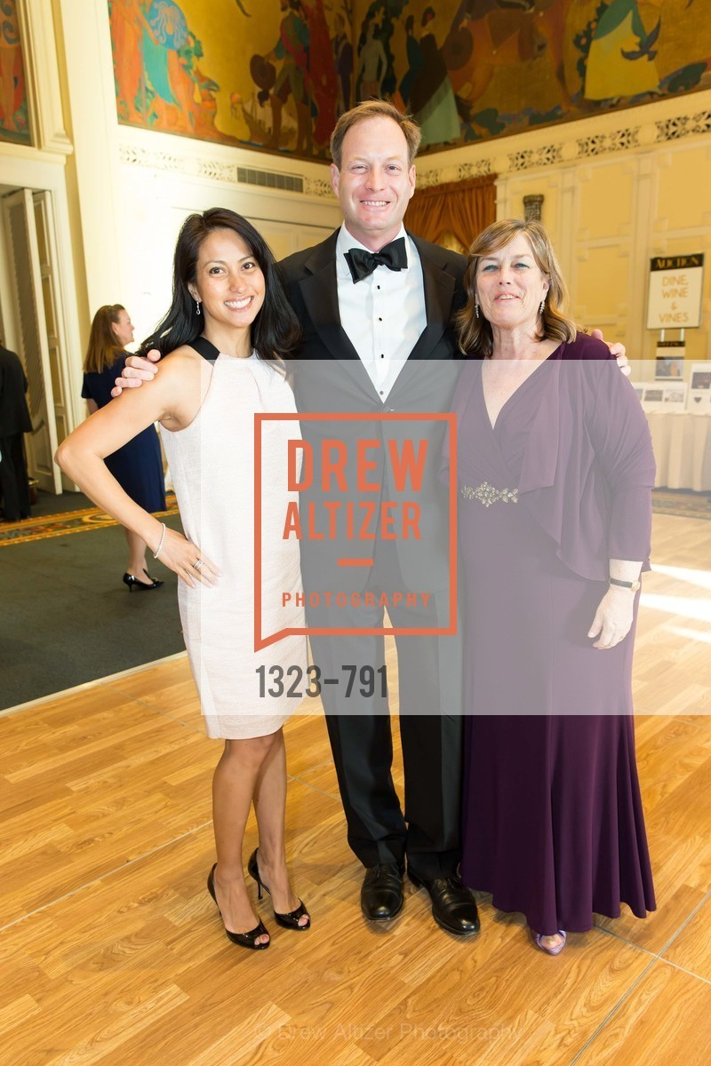Suzanne Gherardini, Jeff Gherardini, Carolyn Squeri, SAN FRANCISCO HERITAGE Soiree 2015, US, April 19th, 2015