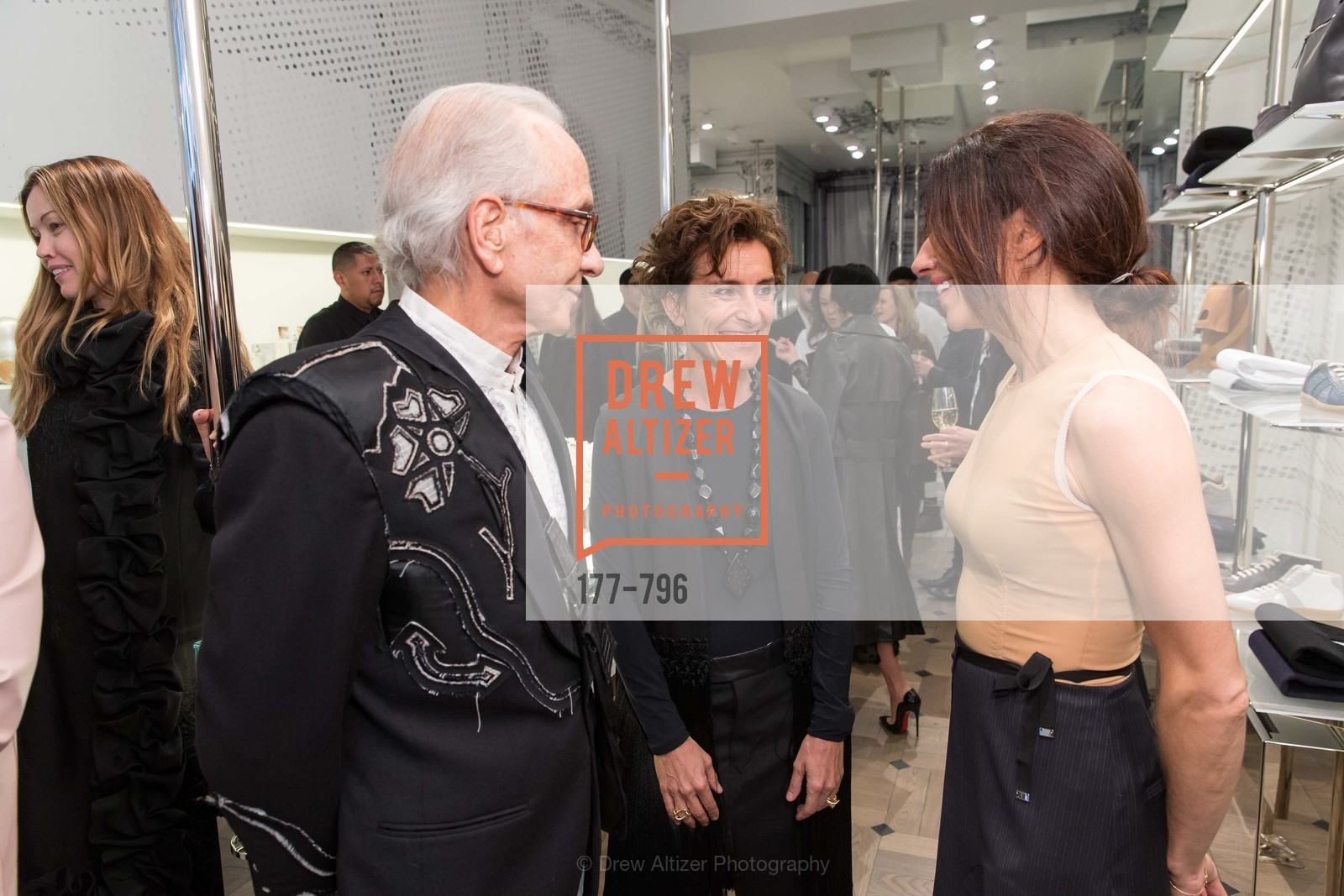 Norman Stone, Monica Voltolina, Sabrina Buell, MAISON MARGIELA San Francisco Boutique Grand Opening Event, US, April 23rd, 2015,Drew Altizer, Drew Altizer Photography, full-service agency, private events, San Francisco photographer, photographer california