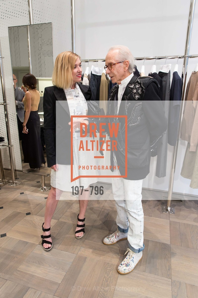 Lara Deam, Norman Stone, MAISON MARGIELA San Francisco Boutique Grand Opening Event, US, April 24th, 2015