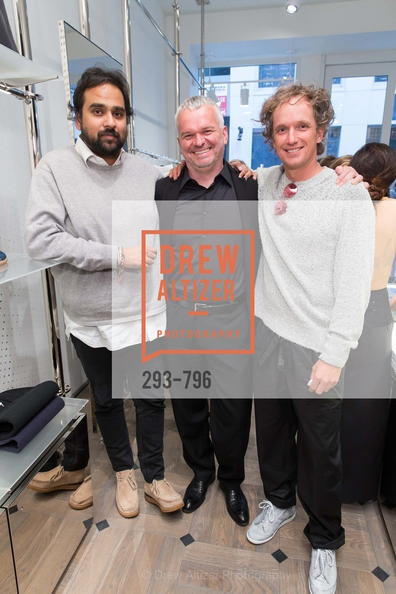Hosain Rahman, Wilhelm Oehl, Yves Behar, MAISON MARGIELA San Francisco Boutique Grand Opening Event, US, April 24th, 2015,Drew Altizer, Drew Altizer Photography, full-service agency, private events, San Francisco photographer, photographer california