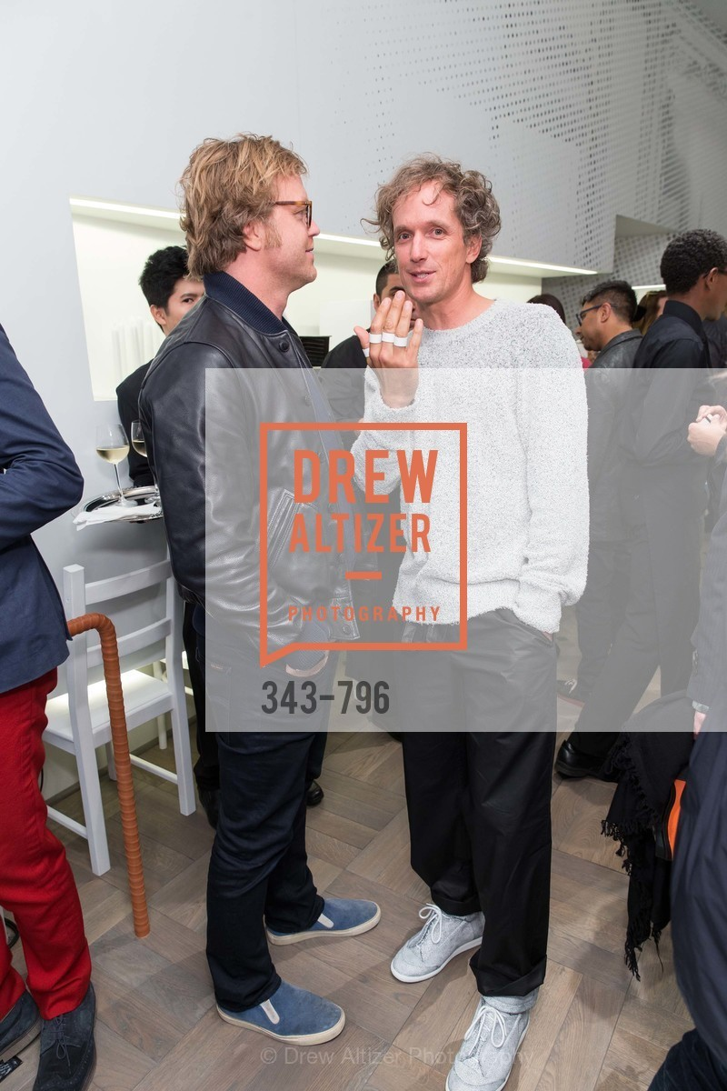 Rico Zorkendorfer, Yves Behar, MAISON MARGIELA San Francisco Boutique Grand Opening Event, US, April 24th, 2015