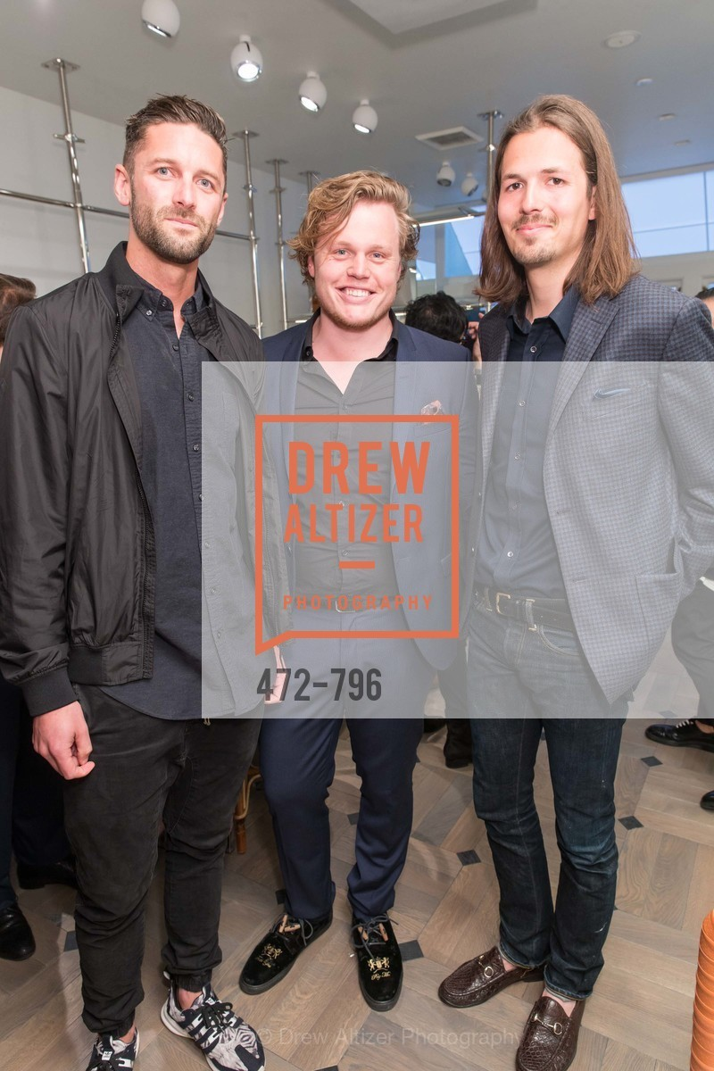 Bobby Rasmussen, Frederik Christensen, Klaus Rabnholt, MAISON MARGIELA San Francisco Boutique Grand Opening Event, US, April 24th, 2015,Drew Altizer, Drew Altizer Photography, full-service agency, private events, San Francisco photographer, photographer california