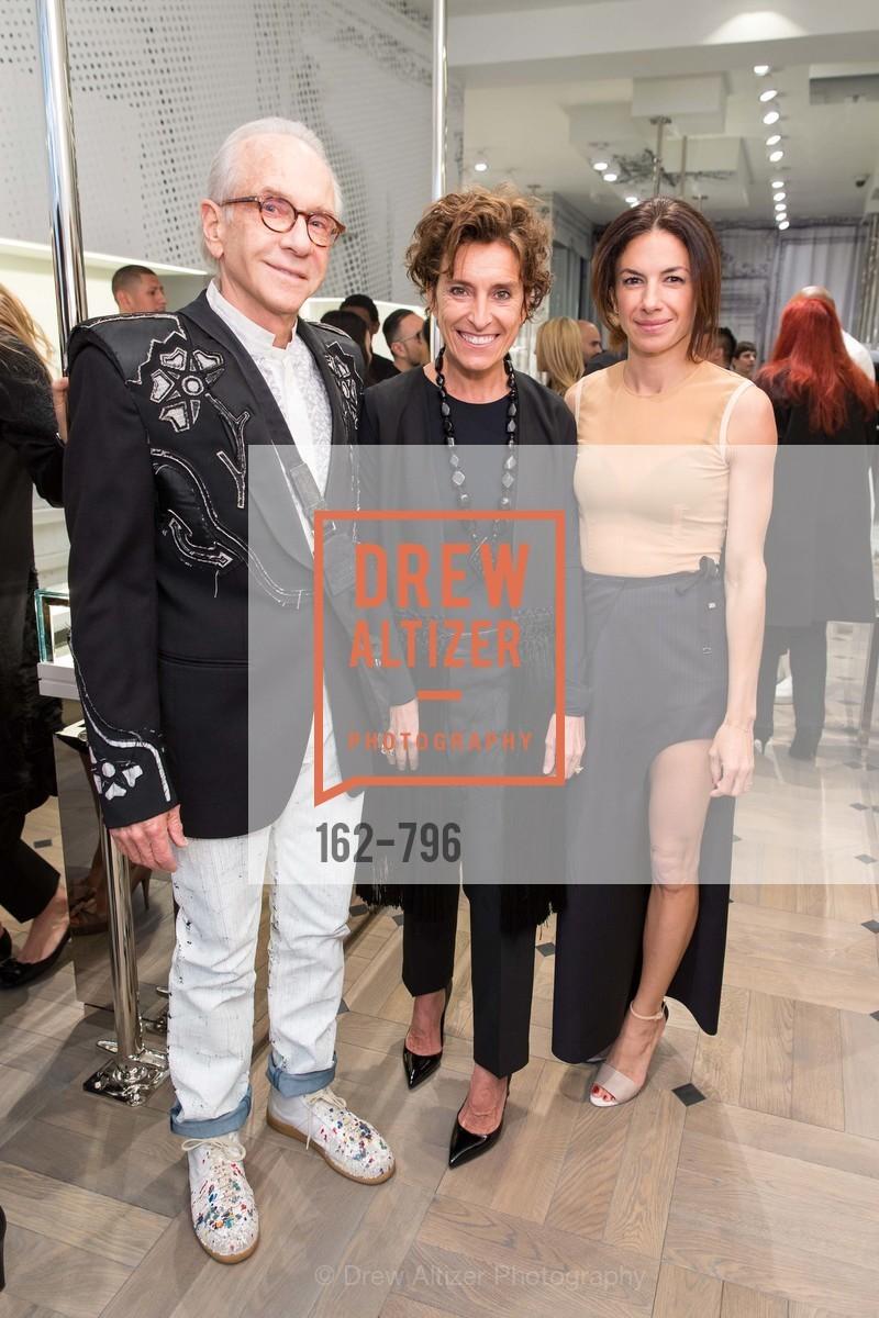 Norman Stone, Monica Voltolina, Sabrina Buell, MAISON MARGIELA San Francisco Boutique Grand Opening Event, US, April 24th, 2015