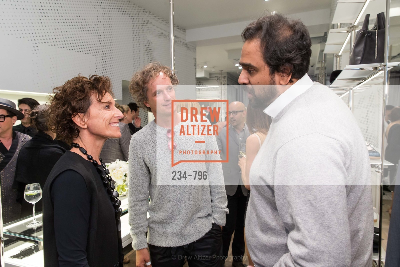 Monica Voltolina, Yves Behar, Hosain Rahman, MAISON MARGIELA San Francisco Boutique Grand Opening Event, US, April 24th, 2015,Drew Altizer, Drew Altizer Photography, full-service agency, private events, San Francisco photographer, photographer california