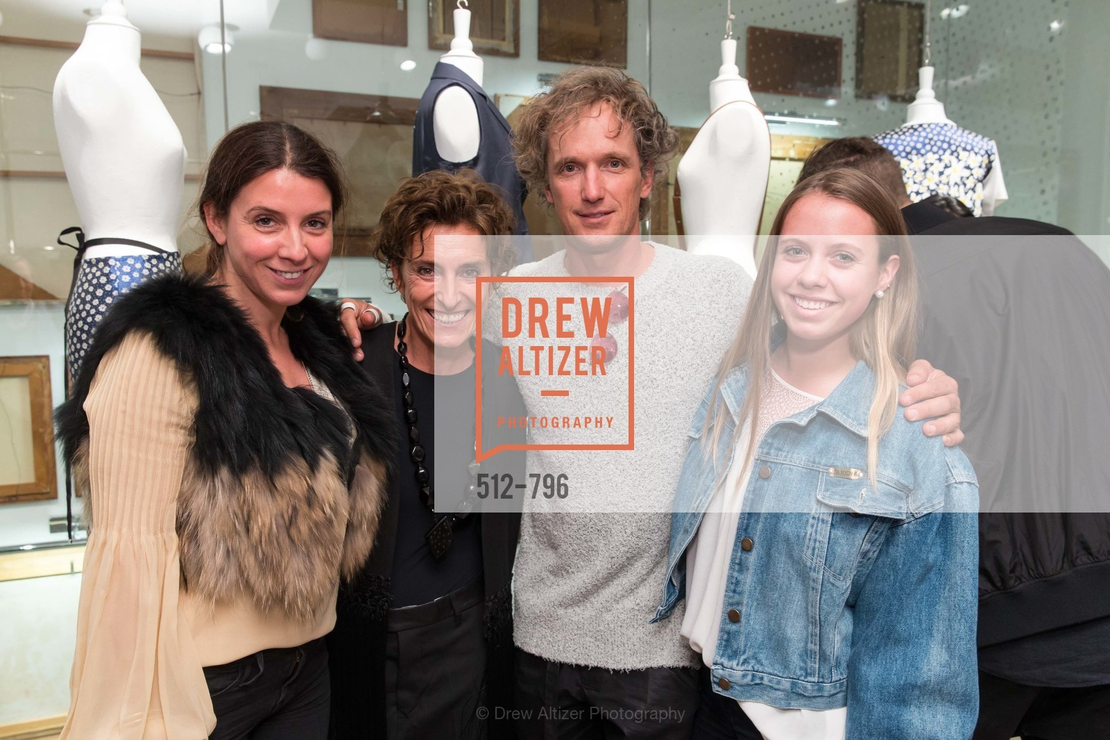 Maca Huneeus, Monica Voltolina, Yves Behar, Antonia Huneeus, MAISON MARGIELA San Francisco Boutique Grand Opening Event, US, April 24th, 2015,Drew Altizer, Drew Altizer Photography, full-service agency, private events, San Francisco photographer, photographer california