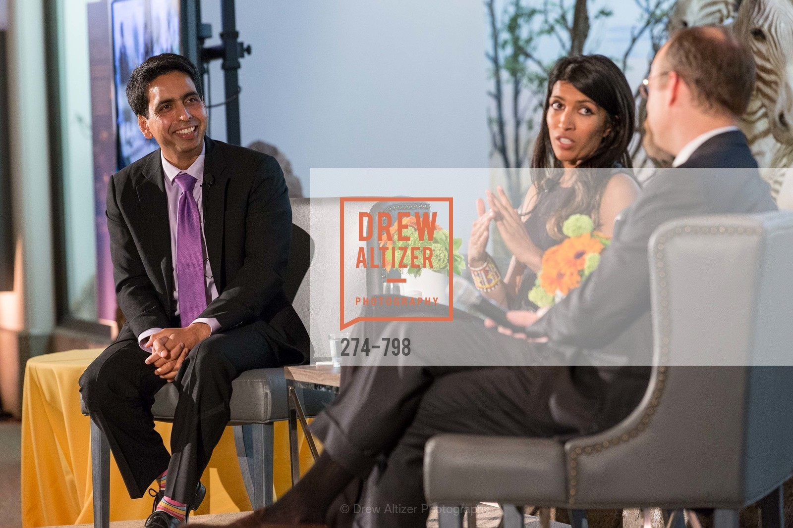 Sal Khan, Leila Janah, CALIFORNIA ACADEMY OF SCIENCES - Big Bang Gala 2015, US, April 24th, 2015,Drew Altizer, Drew Altizer Photography, full-service agency, private events, San Francisco photographer, photographer california