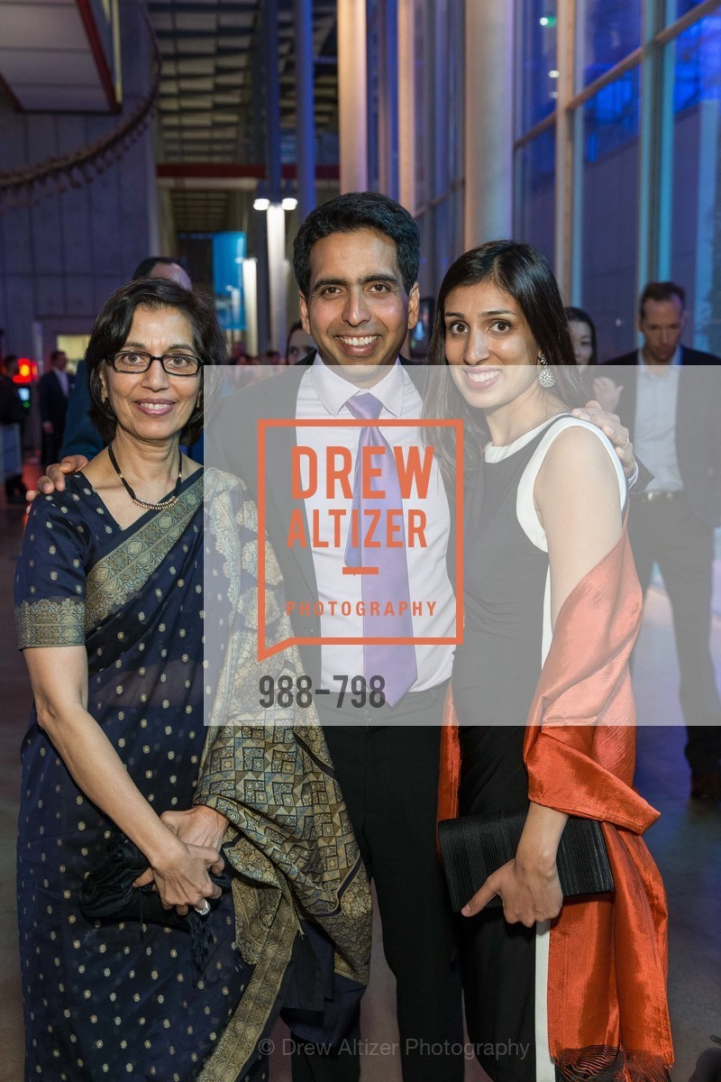 Naseem Marvi, Sal Khan, Umaima Marvi, CALIFORNIA ACADEMY OF SCIENCES - Big Bang Gala 2015, US, April 23rd, 2015,Drew Altizer, Drew Altizer Photography, full-service agency, private events, San Francisco photographer, photographer california