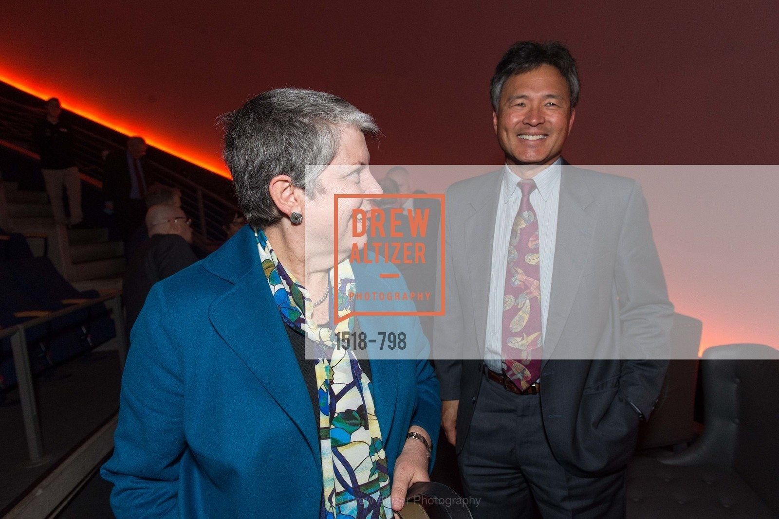 Janet Napolitano, Milton Chen, CALIFORNIA ACADEMY OF SCIENCES - Big Bang Gala 2015, US, April 23rd, 2015,Drew Altizer, Drew Altizer Photography, full-service agency, private events, San Francisco photographer, photographer california