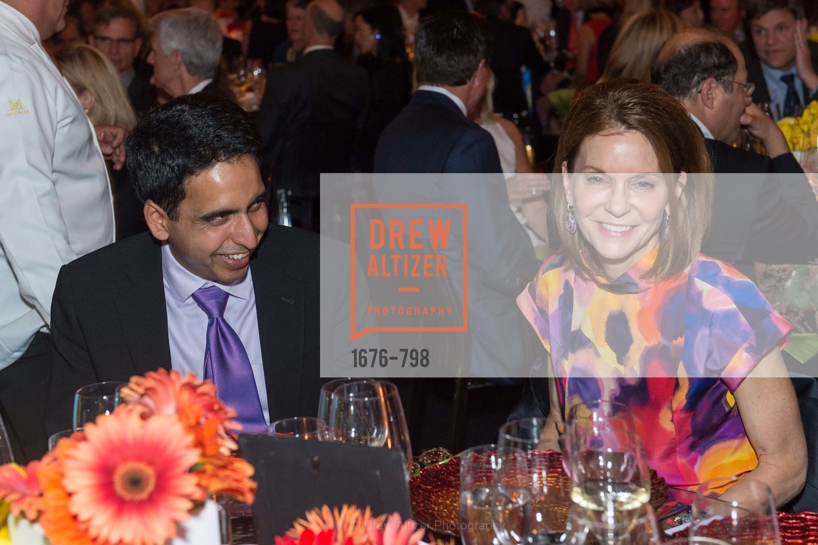Sal Khan, Penny Coulton, CALIFORNIA ACADEMY OF SCIENCES - Big Bang Gala 2015, US, April 23rd, 2015,Drew Altizer, Drew Altizer Photography, full-service agency, private events, San Francisco photographer, photographer california