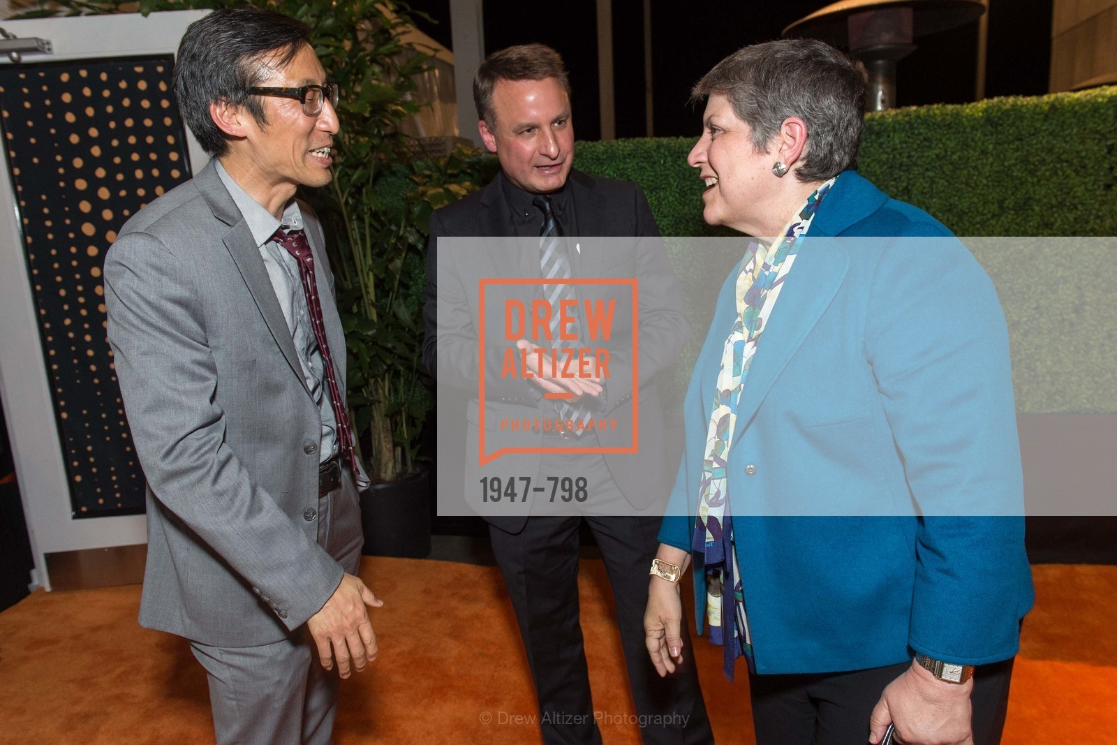 Supervisor Eric Mar, Jon Foley, Janet Napolitano, CALIFORNIA ACADEMY OF SCIENCES - Big Bang Gala 2015, US, April 23rd, 2015,Drew Altizer, Drew Altizer Photography, full-service agency, private events, San Francisco photographer, photographer california
