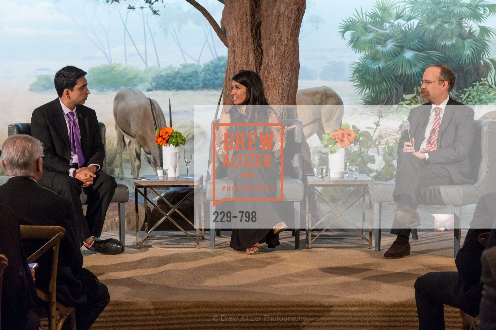 Sal Khan, Leila Janah, Adam Messinger, CALIFORNIA ACADEMY OF SCIENCES - Big Bang Gala 2015, US, April 24th, 2015,Drew Altizer, Drew Altizer Photography, full-service agency, private events, San Francisco photographer, photographer california