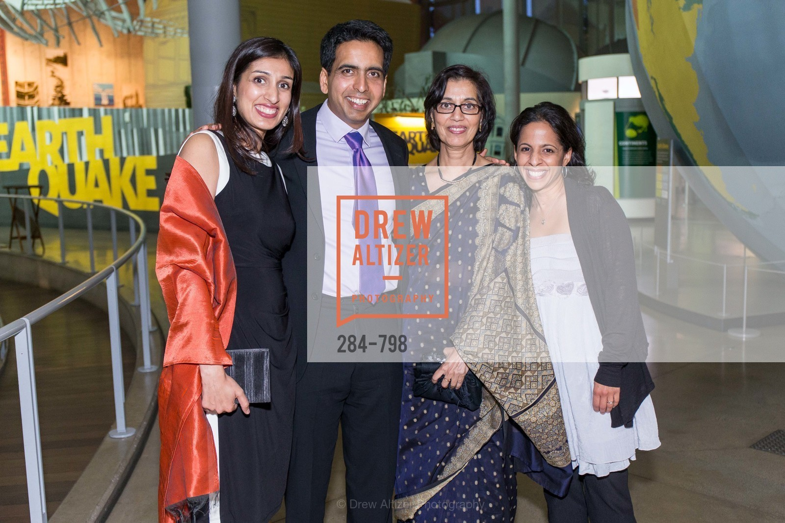 Umaima Marvi, Sal Khan, Naseem Marvi, Sejal Choksi, CALIFORNIA ACADEMY OF SCIENCES - Big Bang Gala 2015, US, April 24th, 2015,Drew Altizer, Drew Altizer Photography, full-service agency, private events, San Francisco photographer, photographer california