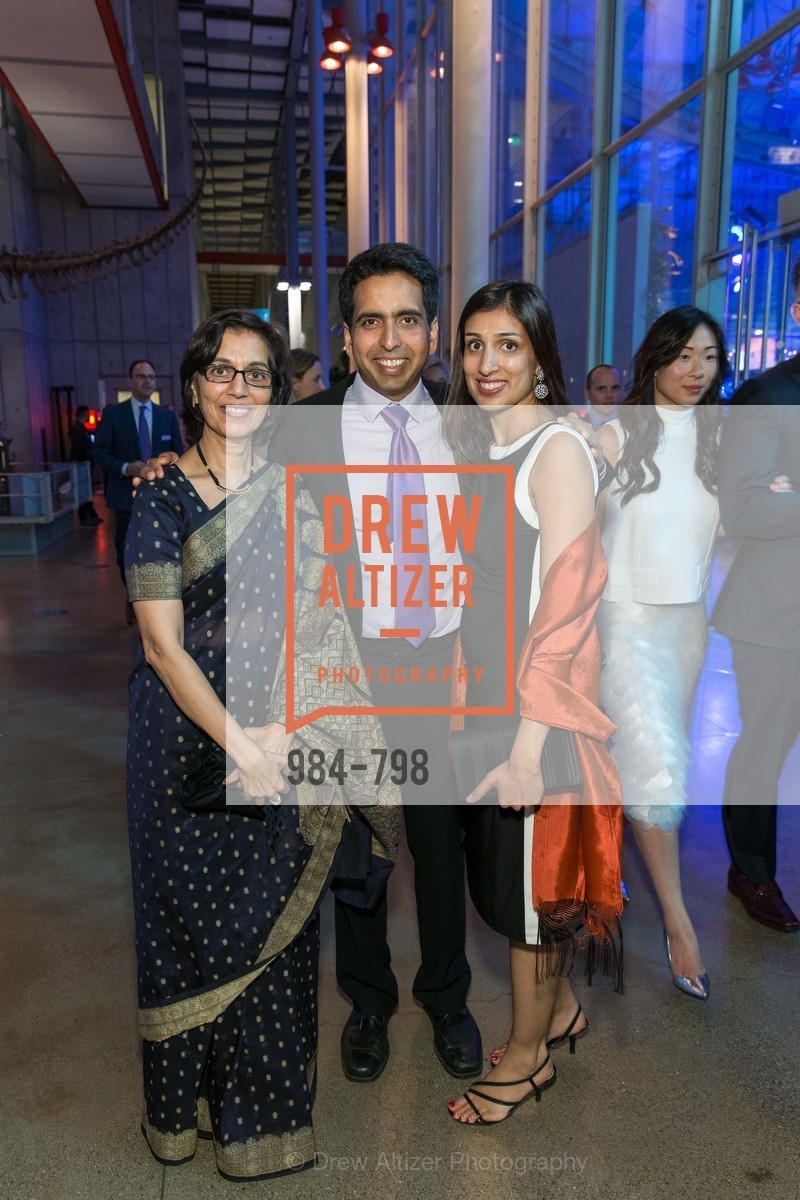 Naseem Marvi, Sal Khan, Umaima Marvi, CALIFORNIA ACADEMY OF SCIENCES - Big Bang Gala 2015, US, April 24th, 2015,Drew Altizer, Drew Altizer Photography, full-service agency, private events, San Francisco photographer, photographer california